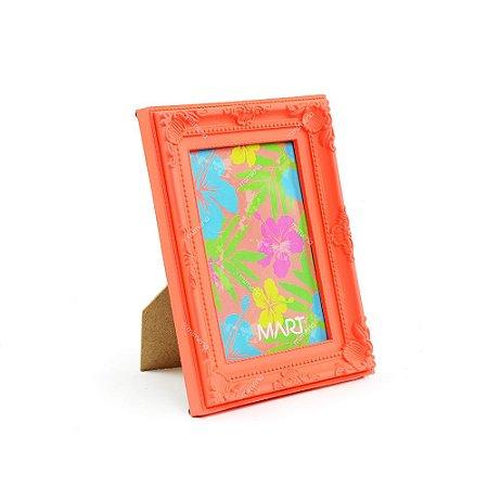 Porta Retrato Vintage Laranja Neon 10x15