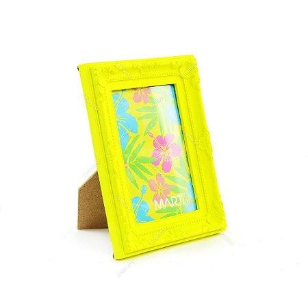 Porta Retrato Vintage Amarelo Neon 10x15