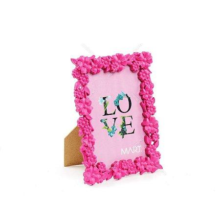 Porta Retrato Floral Rosa 10x15