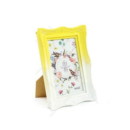 Porta Retrato Vintage Degradê Amarelo Candy 10x15