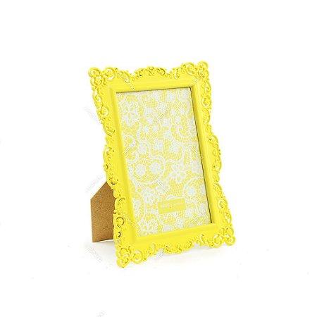 Porta Retrato Ornamentado Amarelo Candy 10x15