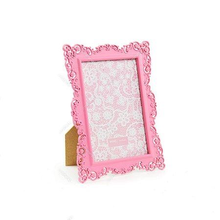 Porta Retrato Ornamentado Rosa Candy 10x15