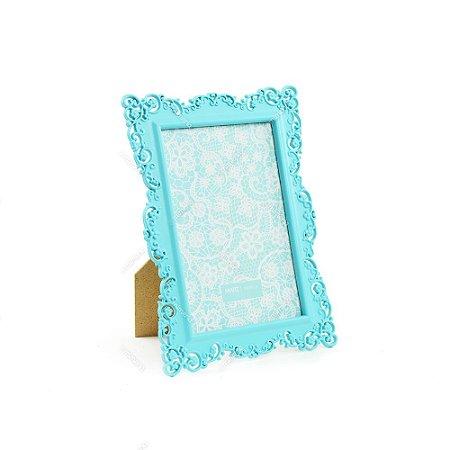 Porta Retrato Ornamentado Azul Candy 10x15