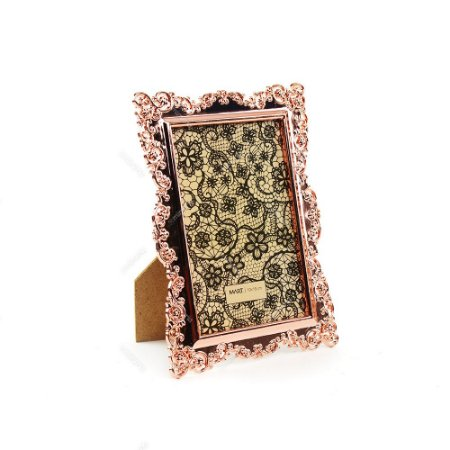 Porta Retrato Ornamentado Cobre 10x15