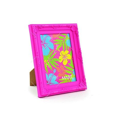 Porta Retrato Vintage Rosa Neon 13x18