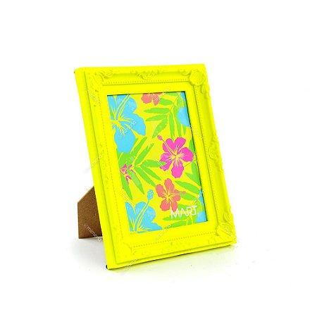 Porta Retrato Vintage Amarelo Neon 13x18