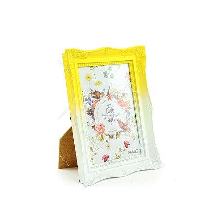 Porta Retrato Vintage Degradê Amarelo Candy 13x18