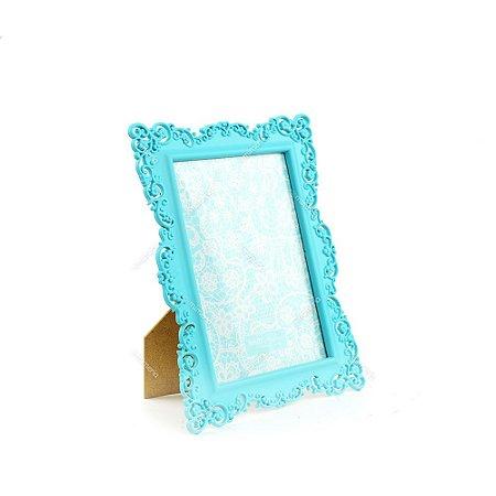 Porta Retrato Ornamentado Azul Candy 13x18