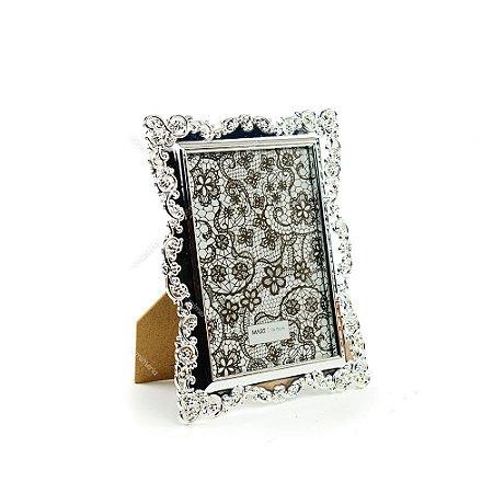 Porta Retrato Ornamentado Prata 13x18