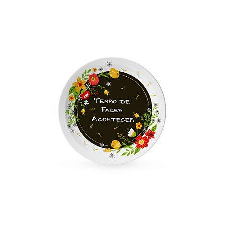 Pratinho Decorativo Pequeno Floral Fazer Acontecer