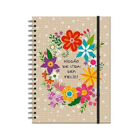 Caderno Universitário Flora 200 folhas