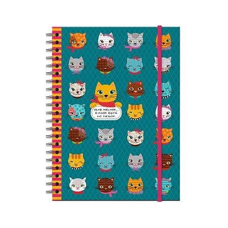 Caderno Universitário Gatinhos Divertidos 200 folhas
