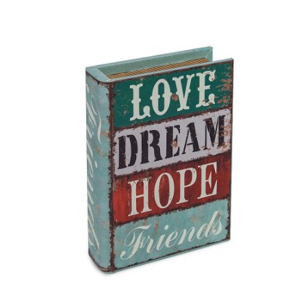 Livro Caixa Pequeno Decorativo Love Dream Hope Friends
