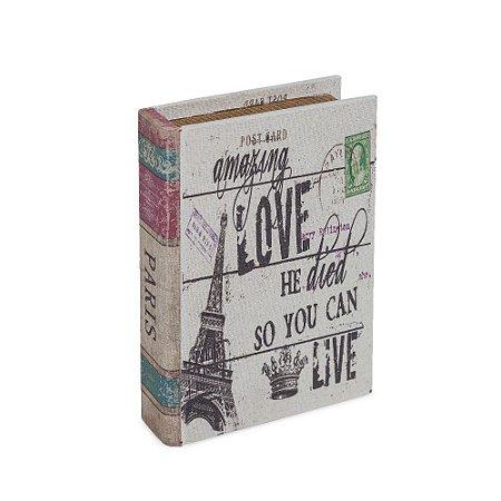 Livro Caixa Pequeno Decorativo Paris