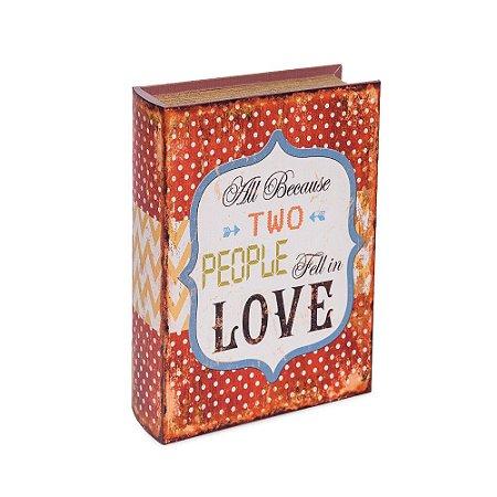 Conjunto 3 Livros Caixa Decorativos Envelhecidos Love