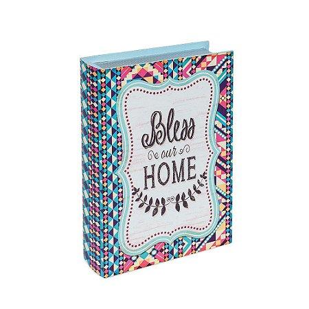 Conjunto 3 Livros Caixa Decorativos Geométricos Bless Our Home