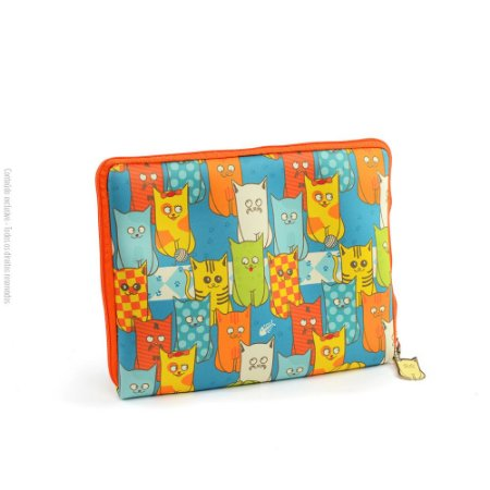 Case para Tablet Zíper Cats Gang