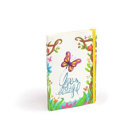 Caderninho de Notas com Elástico Borboleta