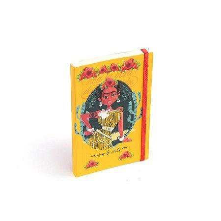 Caderninho de Notas com Elástico Viva la Vida Amarelo