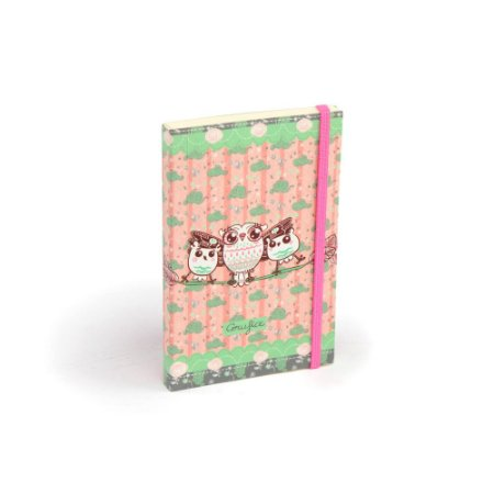 Caderninho de Notas com Elástico Corujice