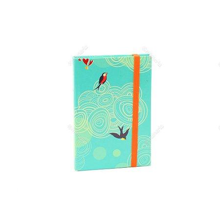 Caderninho Capa Dura com Elástico Liberdade