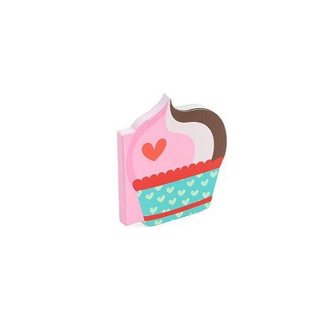 Bloco de Notas com Recorte Cupcake