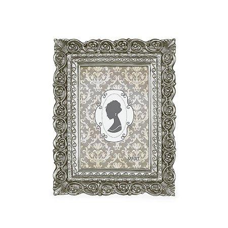 Porta Retrato de Resina Prata 10x15