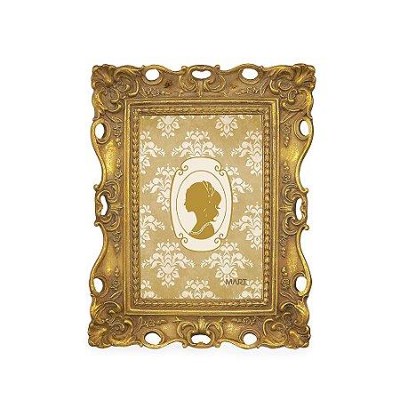 Porta Retrato de Resina Vintage Dourado 10x15