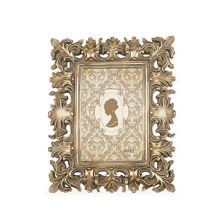 Porta Retrato de Resina Neoclássico Champagne 10x15