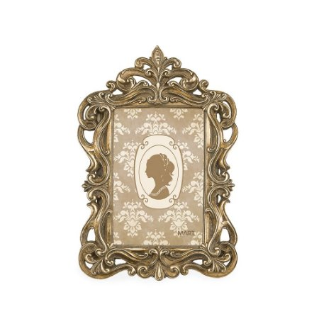 Porta Retrato de Resina Clássico Champagne 10x15