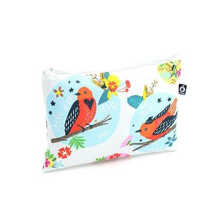 Necessaire Envelope Pássaros e Flores