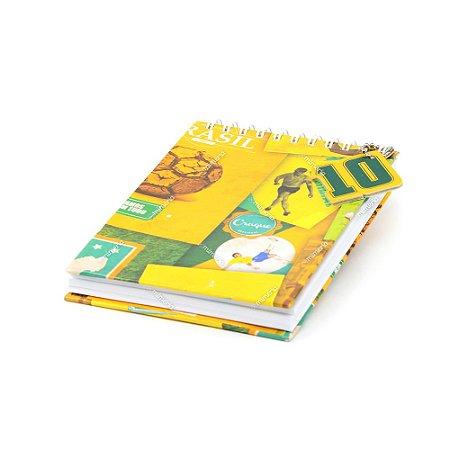 Caderno de Notas Wire-O Brasil do Futebol