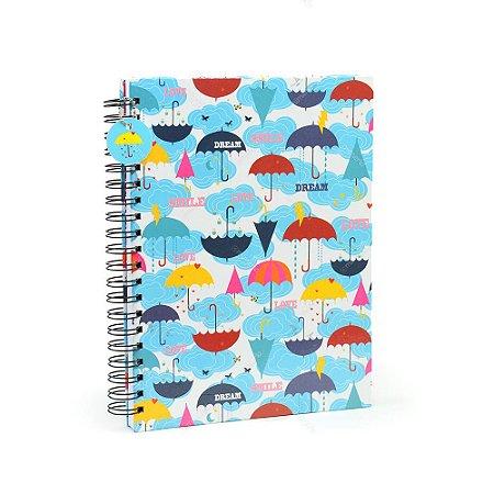 Caderno Universitário Chove Chuva
