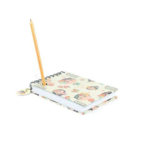 Bloco de Notas com Lápis Frida