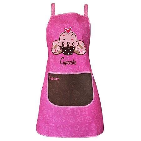 Avental de Cozinha Cupcake Rosa