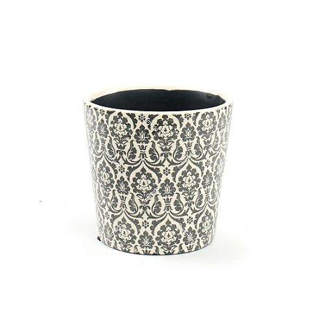 Cachepô de Cerâmica Médio Marroquino Preto