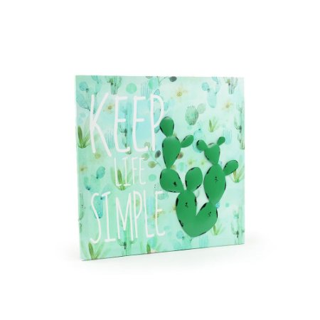 Quadro em Canvas Cactos Keep Life Simple