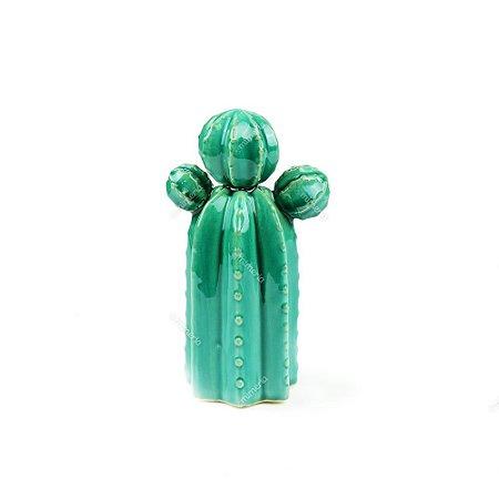 Cacto em Cerâmica Verde Orelha de Urso Pequeno