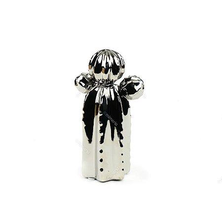 Cacto em Cerâmica Prata Orelha de Urso Pequeno