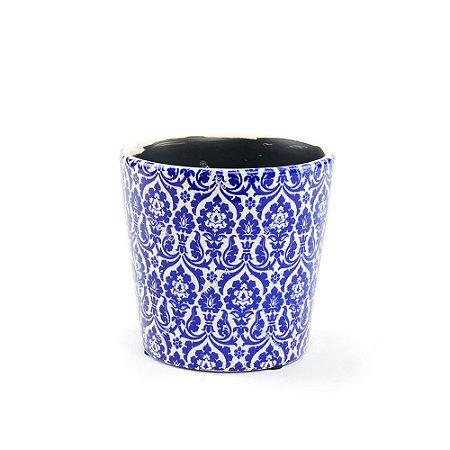 Cachepô de Cerâmica Médio Marroquino Azul
