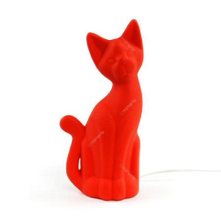 Luminária Gato Magrelo Vermelho