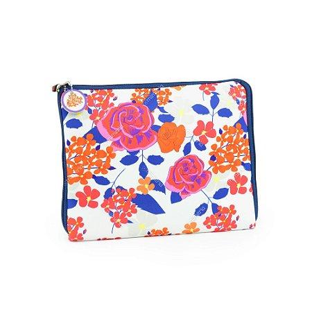 Case para Tablet Zíper Floral Color