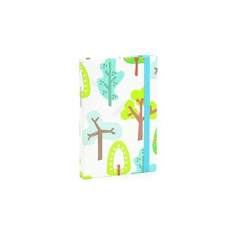 Caderninho Capa Dura com Elástico Árvore