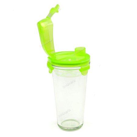 Coqueteleira Shaker de Vidro com Tampa Hermética 450 ml