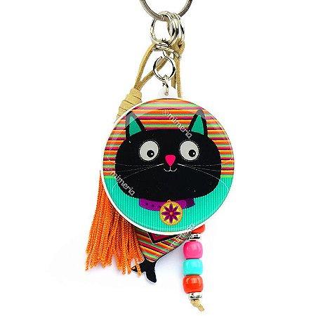 fa95bcff6 Chaveiro Gato Felicidade - Mimeria | Mimos e Presentes Fofos