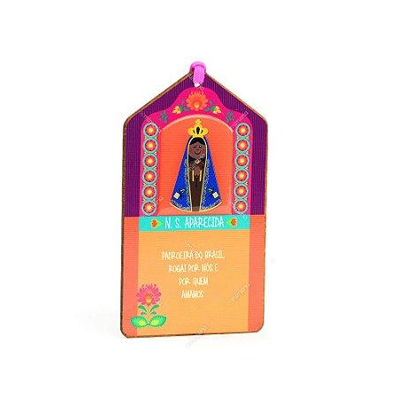 Plaquinha Tag Nossa Senhora Aparecida