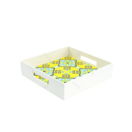 Bandeja Pequena Azulejo Ladrilho Amarelo