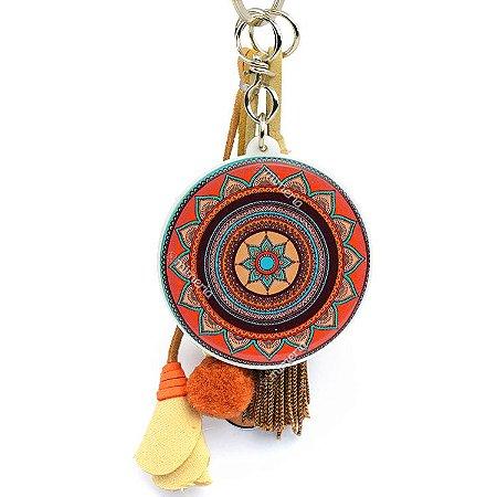 Chaveiro Mandala Tribal Flor