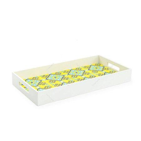 Bandeja Dupla Azulejo Ladrilho Amarelo