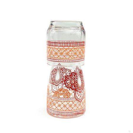 Moringa de Vidro Marrocos Vermelha 500 ml